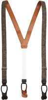 Brooks Brothers Skinny Harris Tweed Wool Braces