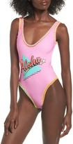 Topshop Women's Aloha One-Piece Swimsuit