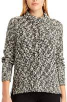 Chaps Women's Marled Funnel Neck Sweater