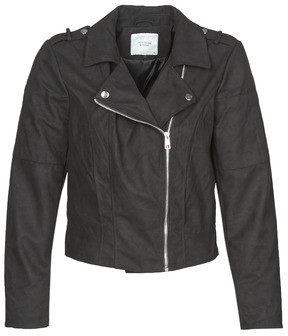JDY JDYNEW PEACH women's Leather jacket in Black