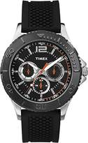 Timex Men's Quartz Watch with Black Dial Chronograph Display and Black Silicone Strap TW2P87500