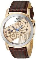 Croton Men's CR307931BRSK Circuit Breaker Analog Display Quartz Brown Watch