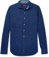 Isaia Slim-Fit Linen-Chambray Shirt