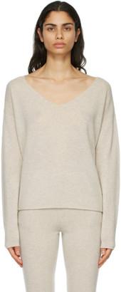 Le Kasha Beige Cashmere Tibet Sweater