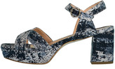 Rupert Sanderson Metallic Deidre Platform Sandal