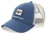 Vineyard Vines Men's Whale Patch Trucker Hat - Blue