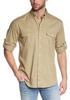 Beige Shirts For Men Long Sleeve - ShopStyle UK