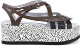 Pollini dotted platform sandals - women - Leather/rubber - 36