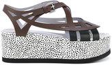 Pollini dotted platform sandals