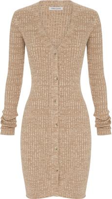 Anna Quan Misha Ribbed-Knit Shirt Dress