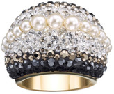 Swarovski Chic Royalty Crystal & Crystal Pearl Dome Ring - Size 52 (US 6)