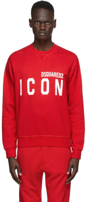 DSQUARED2 Red Icon Sweatshirt
