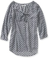 Aeropostale Womens Abstract Houndstooth Tunic Blouse M