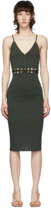Dion Lee Green Braided Camisole Dress