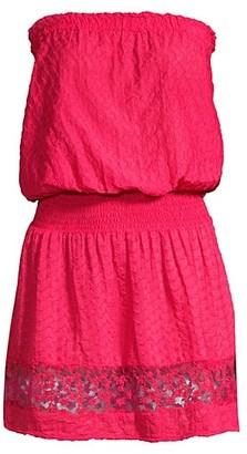 Ramy Brook Lilia Mesh Combo Dress