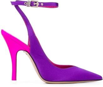 ATTICO Two-Tone Stiletto Sandals