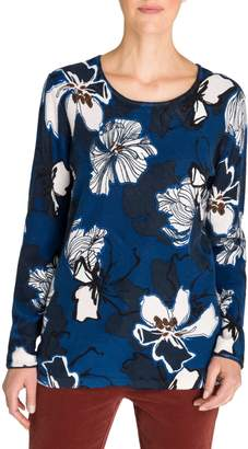 Olsen Rustic Luxury Floral Cotton Sweater