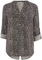 Oasis Animal Pintuck Shirt