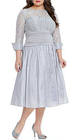 Jessica Howard Plus Rhinestone Cuff Ballgown Dress