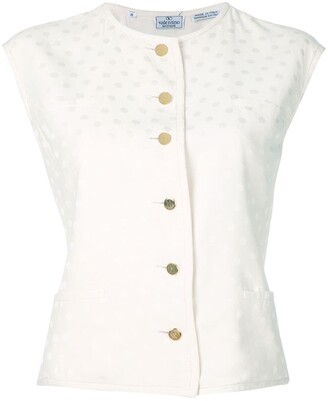 Valentino Pre-Owned Tonal Dots Buttoned Blouse