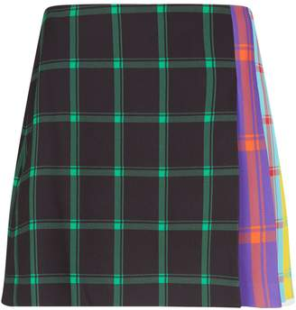 Alice + Olivia Semira Check Pleated Mini Skirt