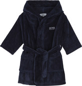 BOSS Logo embossed terry bath robe 6-36 months