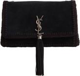 Saint Laurent Medium Kate Whipstitch Suede Shoulder Bag