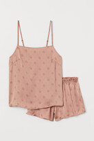 H&M Pajama Camisole Top and Shorts - Pink