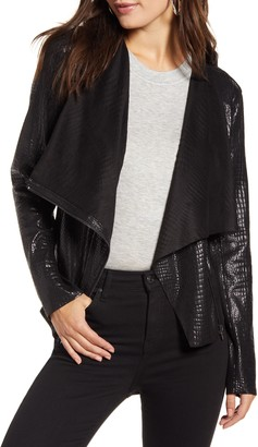 Blank NYC BLANKNYC Iron Girl Croc Embossed Faux Leather Jacket
