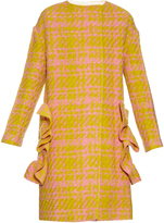 Marni 3-D checked wool-blend coat