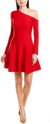 Oscar de la Renta Wool-Blend A-Line Dress
