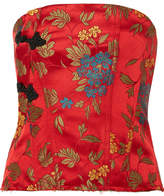Marques Almeida Marques' Almeida - Floral-jacquard Corset - Red