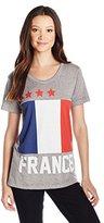 Freeze Juniors France Flag Burnout Vneck Graphic Tee