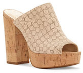 Jessica Simpson Giavanna Leather Cork Sandals