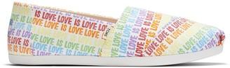 Toms Love Is Love Print Women's Classics