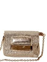 Jimmy Choo Caro Glitter Fabric Shoulder Bag