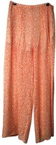 Patrizia Pepe Orange Silk Trousers for Women