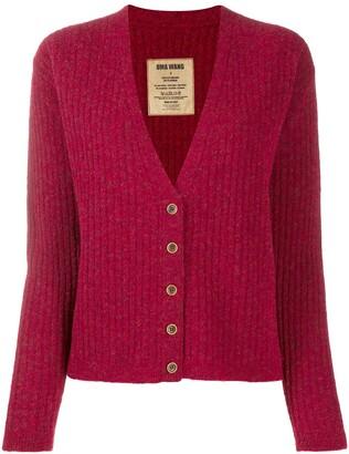 UMA WANG V-neck ribbed-knit cardigan