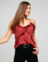 Dotti Ditzy Floral Ruffle Sleeve Top