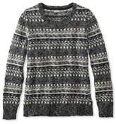L.L. Bean Cotton Ragg Sweater, Fair Isle Pullover