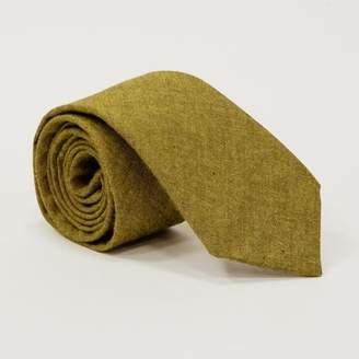 Blade + Blue Solid Citron Olive Green Melange Cotton Tie