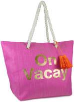 Magid Fuchsia 'On Vacay' Straw Tote