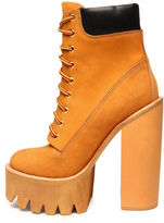 Jeffrey Campbell The HBIC Boot in Wheat Nubuck (Exclusive)