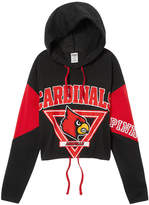 Victoria's Secret Victorias Secret University Of Louisville Cropped Cinched Hem Hoodie