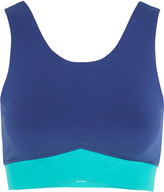 Ivy Park Stretch-jersey Sports Bra - Midnight blue
