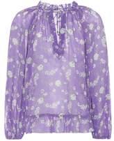 Ulla Johnson Rosine floral-printed silk blouse