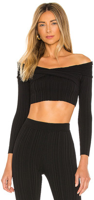 Michael Costello x REVOLVE Knit Ribbed Off Shoulder Top