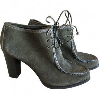 Diane von Furstenberg Green Suede Ankle boots