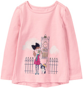 Gymboree Light Pink Girl & Dog in London Graphic Tee - Infant & Toddler