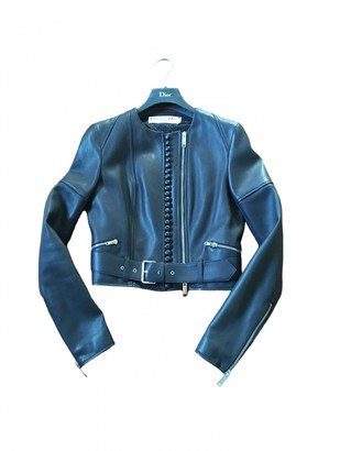 Christian Dior Blue Leather Jackets